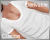 C derv white low cut top