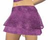 Purple velvet mini