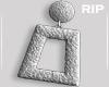 R. Silver earrings