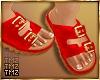 Buckle Bae Sandal -Red