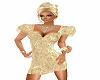 gold puff sleeve dress