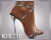 K silver romance heels