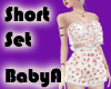 ~BA Flowered Short Set