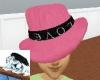 pink ganster hat