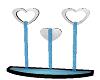 Mocha heart fountain