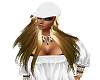 blond hair white cap