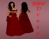 BBW Red Wedding Gown