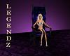 Purple/Black Goth Chair