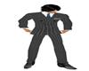 Grey Pinstripe Suit Pant