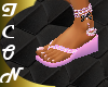 Pink Sparkle Flip Flops