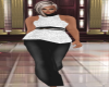 BBW Blk & White Gown