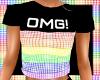 OMG! Rainbow Tee(F)