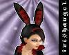 (IA) RED&BLK BUNNY EARS