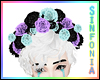 Pastel Goth Flower Crown