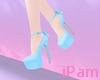 p. blue bow heels