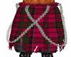 Red  Tartan Layered Kilt