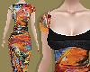 Paint Bustier Dress