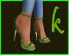 Sandals green snake
