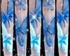XL Blu Butterfly Stillet