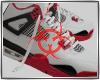 B. AJ4 Fire Red W