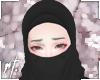 ¤ black half niqab