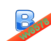 The letter B (Blue 2)
