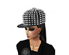 Spiked cap black