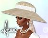 Sun Hat ~ White Ribbon