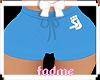 Hot Bling Shorts Blue