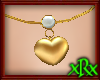 Heart/Pearl Necklace gld