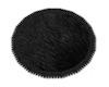 Fur rug round black