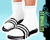 !Socks in plastic slides