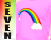 Silver seven rainbow Pin