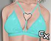 Latex Heart Bra | Blue