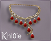 K red gold necklace