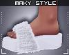 Ms~White fluffy slippers