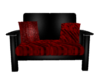 Red Goth chill Couch