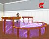 Oak Rimmed Glass Tub