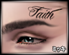 ! FAITH Face Tattoo