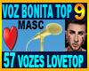57 Voz Vozes Love Top 9
