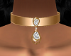 Diamond Brass Collar