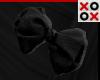 Black Bow Hair Clip - R