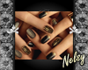 [Nel] Gold&Black Nails