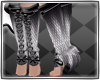 Silver horned boots