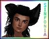 Fluffy Black Ears (M)