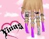 Y. Purple Nails e