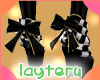 !bow set black and gold