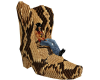Snake Skin Boot Chair