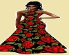 Red flower gown**