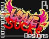 Love Sucks Wall Grafitti